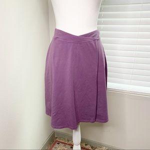 Athleta purple faux cotton wrap skirt B0799